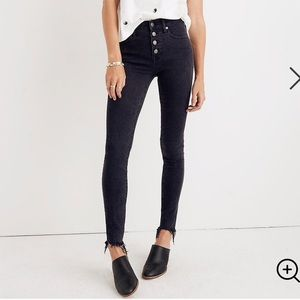 Madewell 9'' High Rise Skinny Button Up Jeans